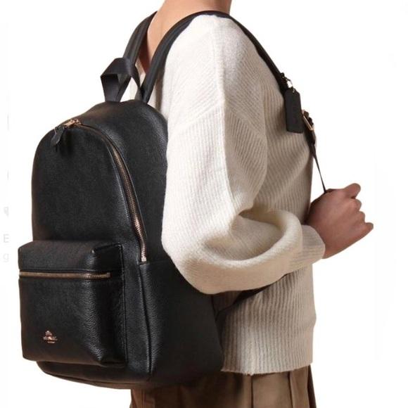 c0a021cbd Coach Handbags - ✨COACH✨LARGE Charlie Black Leather Backpack Purse